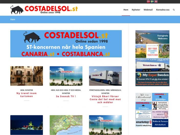 Costadelsol.st - Repair hacked website & re-theme